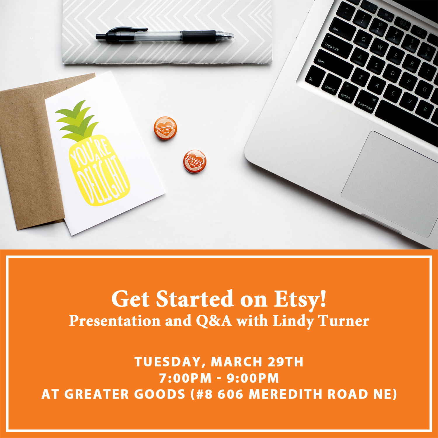 March 29 Get Started on Etsy Workshop